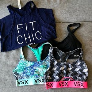 Tanks and 3 sports bras